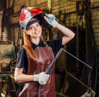 Welding Woman 01